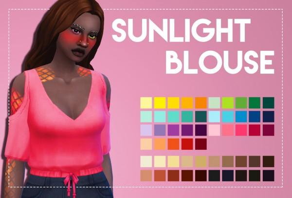 Simsworkshop: Sunlight Blouse by Weepingsimmer