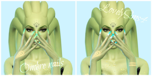 Simsworkshop: 14 Ombre Nails by MaKySeK1989