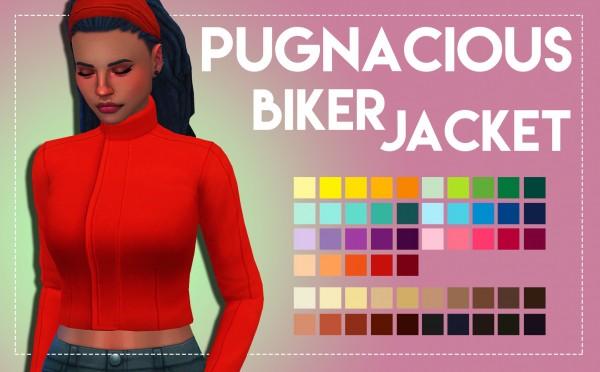 Simsworkshop: Pugnacious Biker Jacket by Weepingsimmer