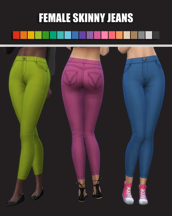 Simsworkshop: Female Skinny Jeans by maimouth
