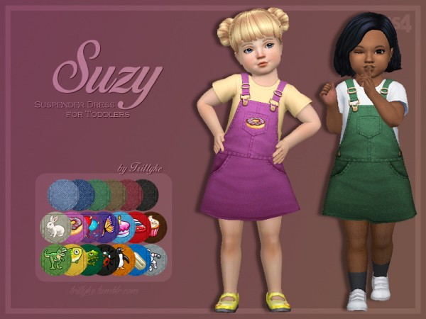 Trillyke: Suzy Suspender Dress for Toddlers   Followers Gift