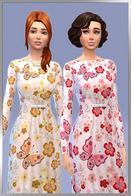 Blackys Sims 4 Zoo: Vintage dress Vanny by Cappu