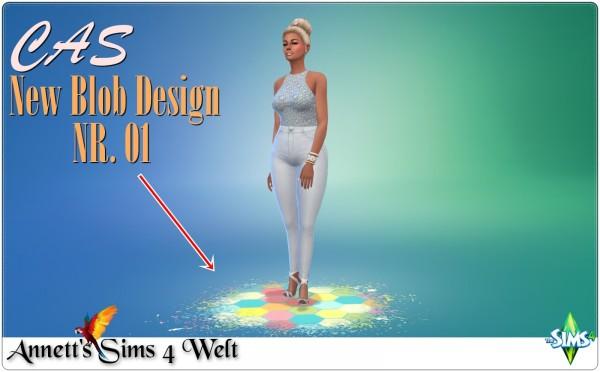 Annett`s Sims 4 Welt: CAS   New Blob Design Nr. 01