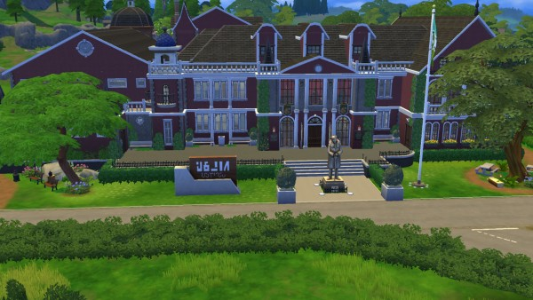 Mod The Sims: Academy du Sim Elite High School with Maze by Madam Hyjinks