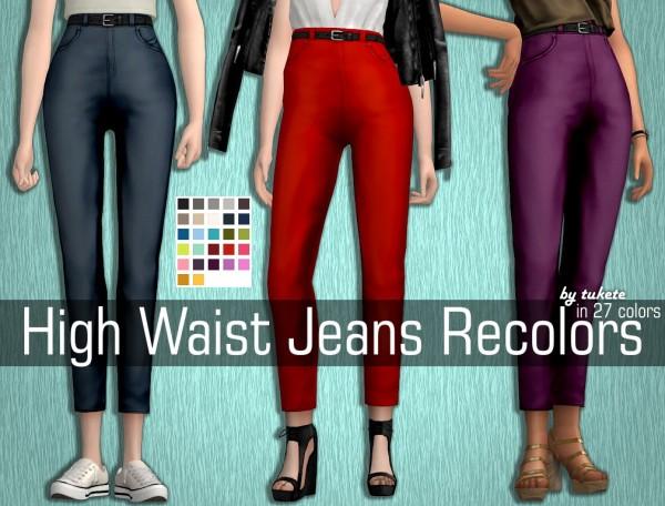 Tukete: High Waist Jeans Recolors