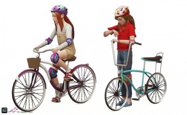 In a bad romance: Childrens bicycle set: Decorative and Poses