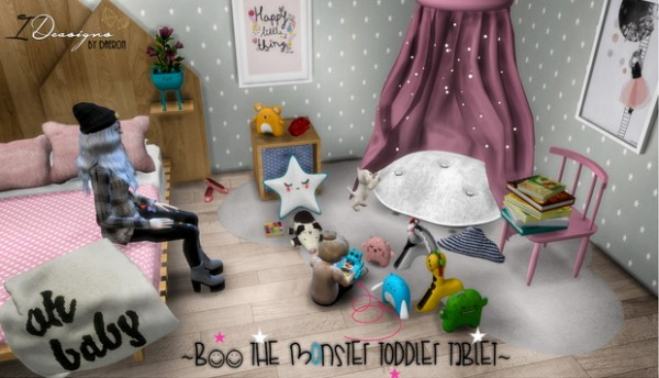 Sims 4 Designs: Boo The Monster Toddler Tablet