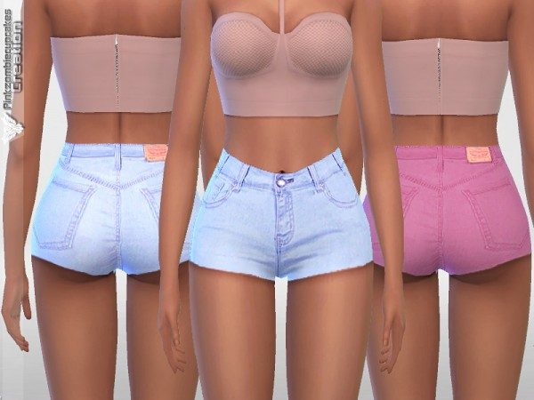 The Sims Resource: Summer Denim Shorts 021 by Pinkzombiecupcakes