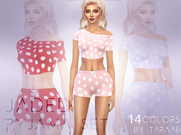 The Sims Resource: Jaded Pajama Set by taraab