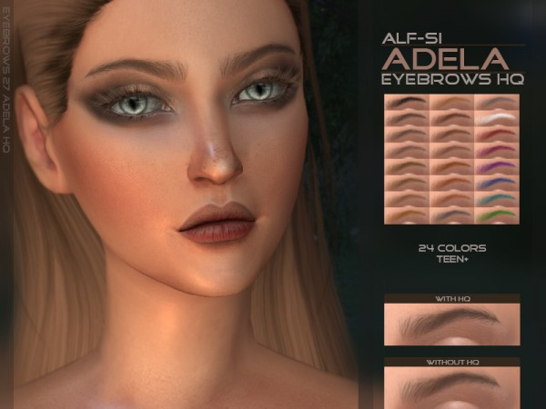 The Sims Resource: Adela   Eyebrows HQ by Alf si