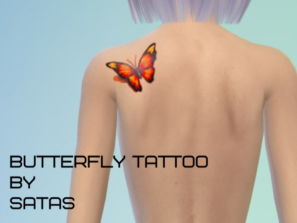 The Sims Resource: Butterfly Tattoo by Satas