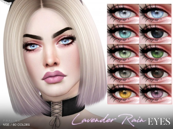 The Sims Resource: Lavender Rain Eyes N135 by Pralinesims