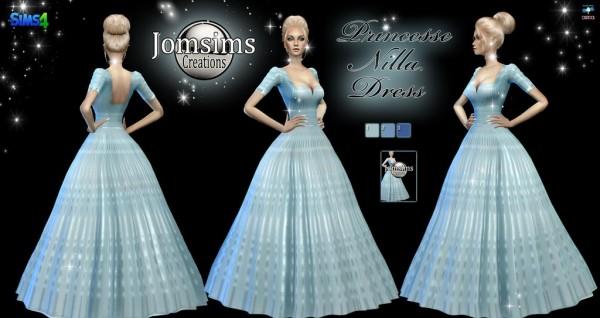 Jom Sims Creations Princesse Nilla Dress Sims 4 Downloads