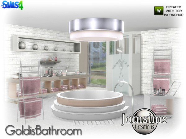 The Sims Resource Goldis Bathroom By Jomsims Sims 4