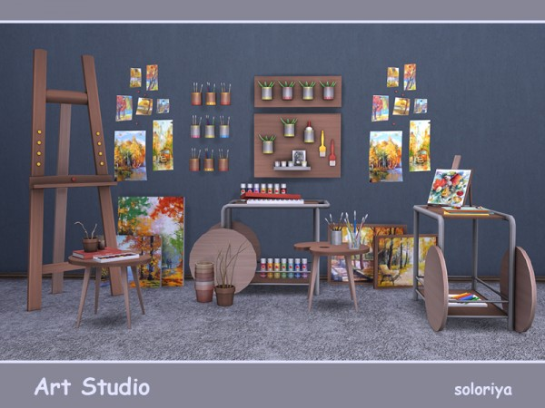 The Sims Resource Art Studio By Soloriya Sims 4 Downloads