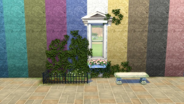 Mod The Sims Solid Stone And Age Roughened Walls By