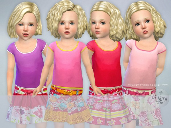 The Sims Resource: T Shirt Toddler Girl P05 by lillka