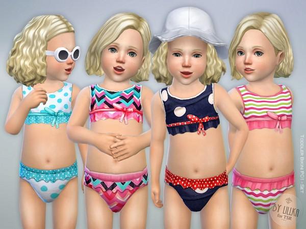 The Sims Resource Toddler Bikini Set P01 By Lillka Sims