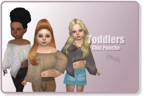 Xmisakix sims: Toddlers Chic Ponchos