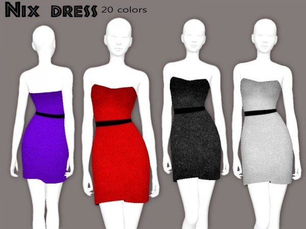 The Sims Resource: Nix dress by Sharareh
