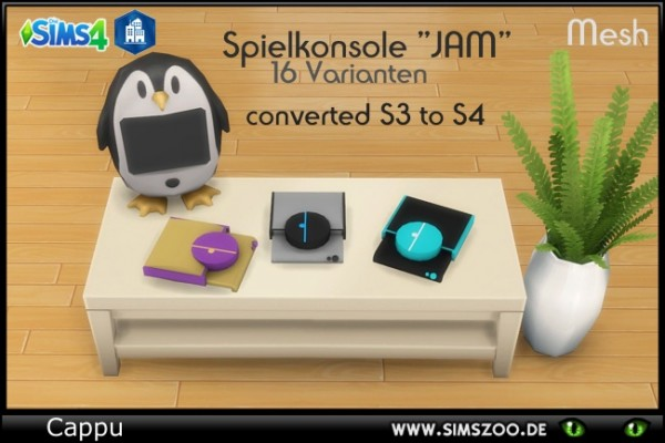 Blackys Sims 4 Zoo: Game console JAM by Cappu