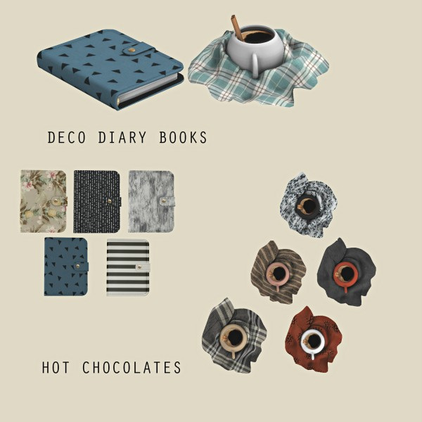 Leo 4 Sims: Diary Book and Hot Chocolate
