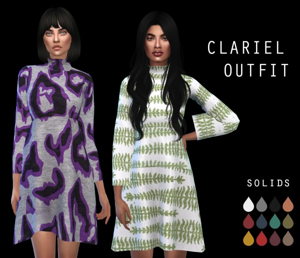 Leo 4 Sims: Clariel Outfit recolored