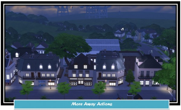 Mod The Sims: More Away Actions by LittleMsSam