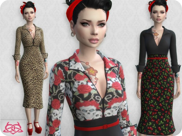 The Sims Resource: Set Blouse and Skirt recolor 7 by Colores Urbanos