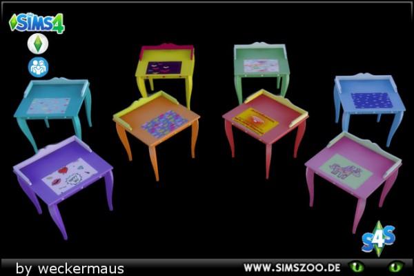 Blackys Sims 4 Zoo: Teen writing desk Sunshine by weckermaus