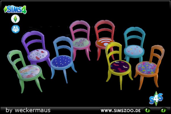 Blackys Sims 4 Zoo: Chair Sunshine by weckermaus