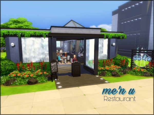 The Sims Resource: Men u Restaurant by sparky