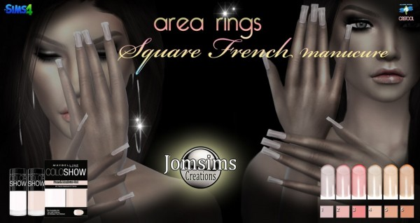 Jom Sims Creations: Square french nails