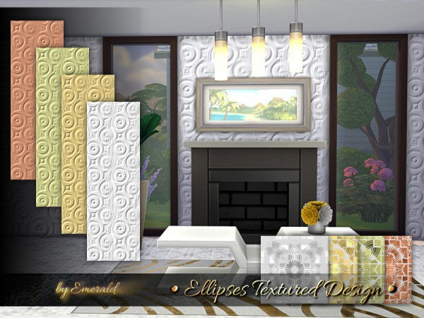 Walls By Design a timeless original custom media wall by dagr design The Sims Resource Ellipses Textured Design Walls By Emerald