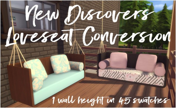 Simsworkshop: New Discovers Loveseat by Sympxls