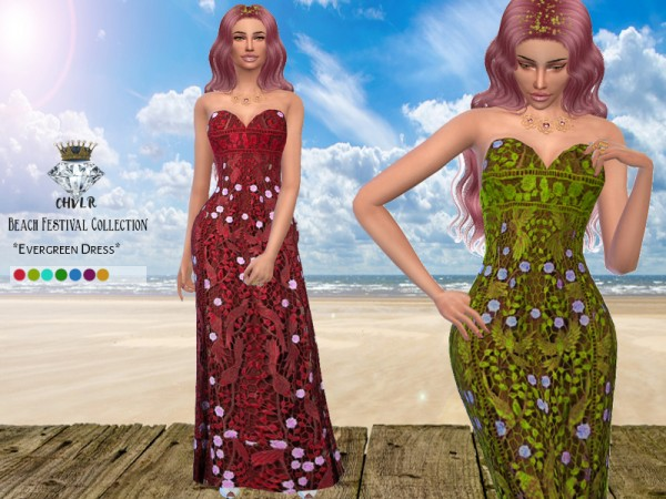 The Sims Resource: Evergreen Dress by MadameChvlr