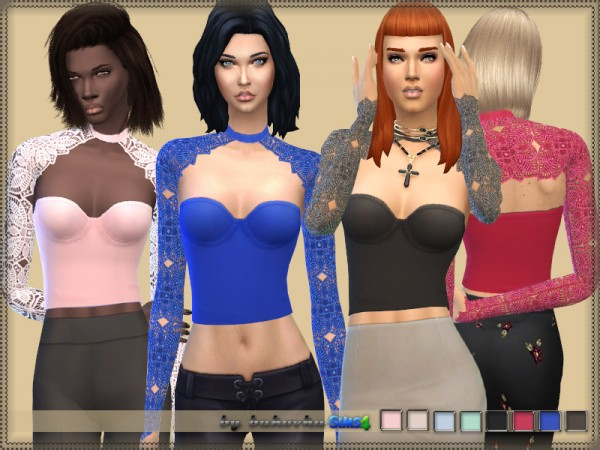 The Sims Resource: Top and Lace Bolero by bukovka