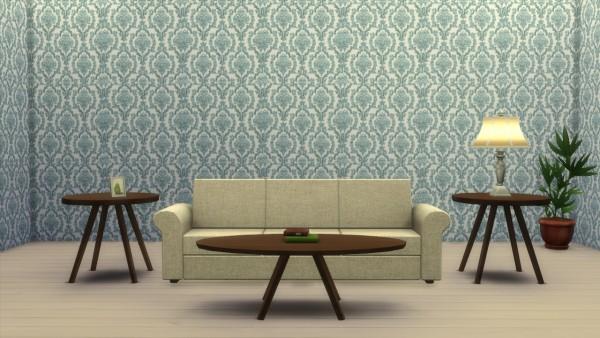 Simsworkshop: Damask Wallpaper by bee honey