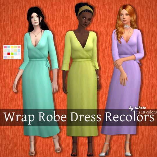 Tukete: Wrap Robe Dress Recolors