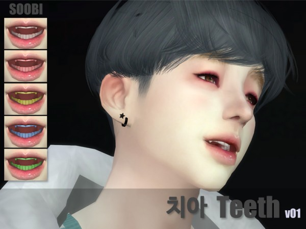 The Sims Resource: Teeth v01 by SooBi