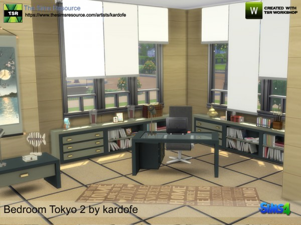 The Sims Resource: Bedroom Tokyo 2 by Kardofe
