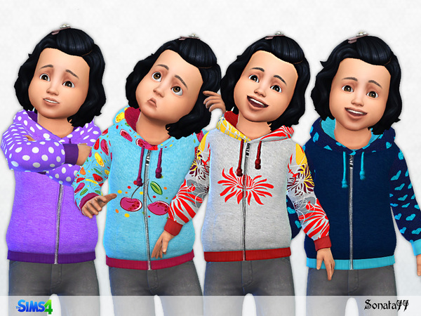 The Sims Resource: Hoodie 17 for toddler by Sonata77