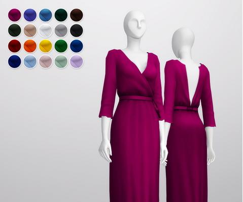 Rusty Nail: Wrap Robe Dress