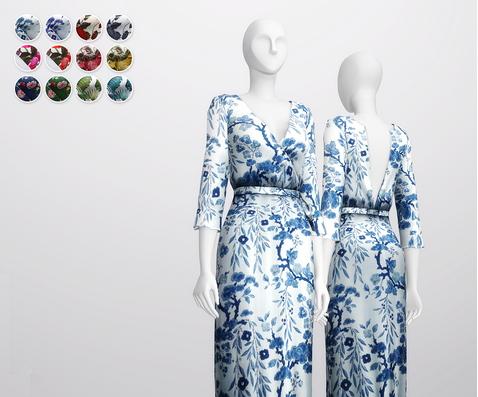 Rusty Nail: Floral effect warp dress