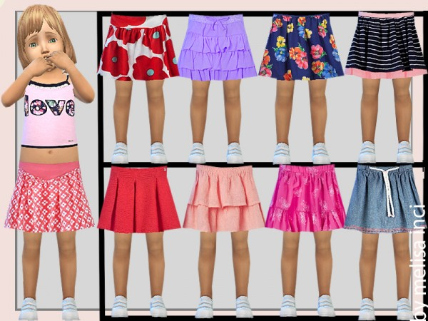 The Sims Resource: Toddler Various Skirts by melisa inci