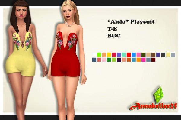 Simsworkshop: Aisla Playsuit by Annabellee25