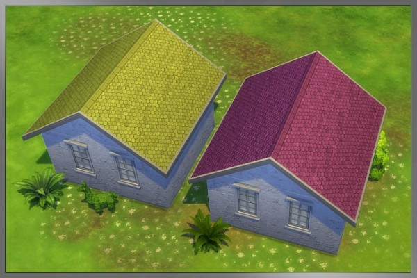 Blackys Sims 4 Zoo: Roof Recolors Fun by Cappu