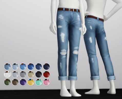 Rusty Nail: Cropped roll up jeans M