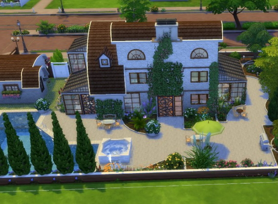All4Sims: Modern Cottage by Oldbox