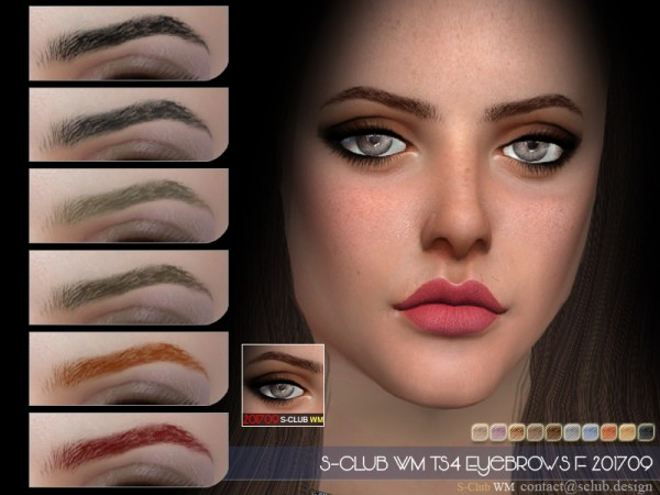 The Sims Resource: Eyebrows F 201709 by S club